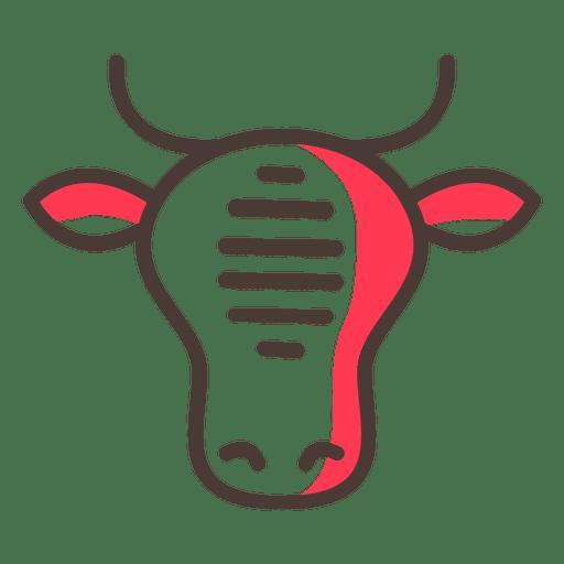 Cow Flat Icon Stoke