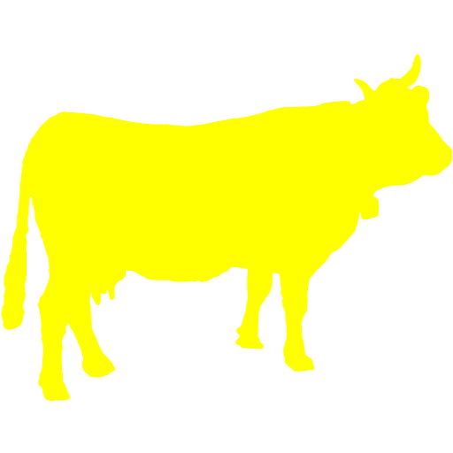 Yellow Cow Icon
