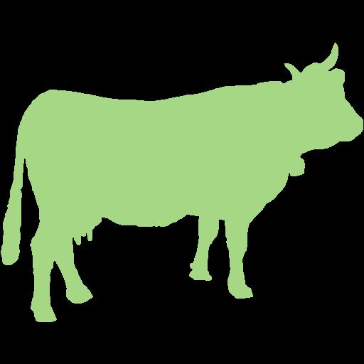Guacamole Green Cow Icon