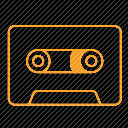 Audiotape, Cassette, Cassette Tape, Tape, Icon