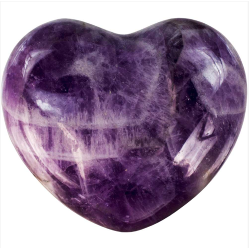 Amethyst Puffy Gemstone Heart Alluforu