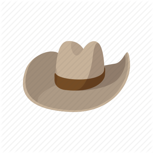 Brown, Cartoon, Clothing, Cowboy, Hat, Leather, West Icon