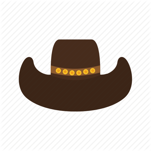 Cowboy, Hat, Head, Leather, Style, West, Wild Icon