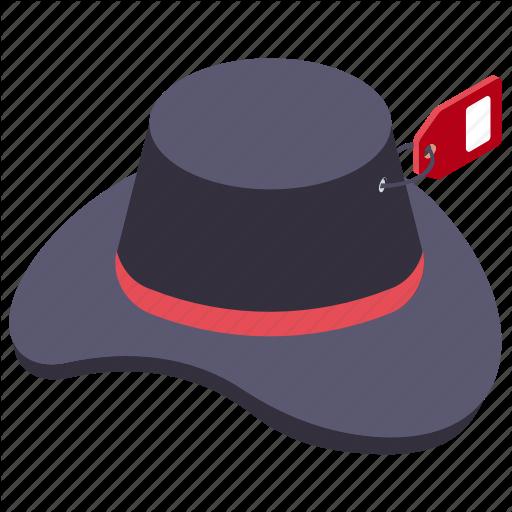 Cowboy Hat, Floppy Hat, Hat, Headwear, Summer Hat Icon