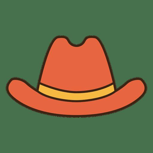 Stroke Orange Cowboy Hat