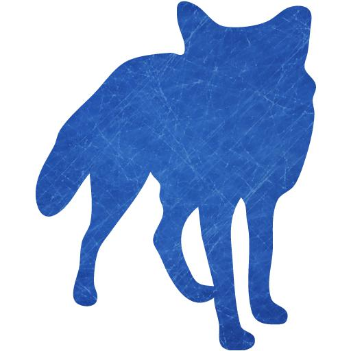 Blue And Scratched Fox Icon