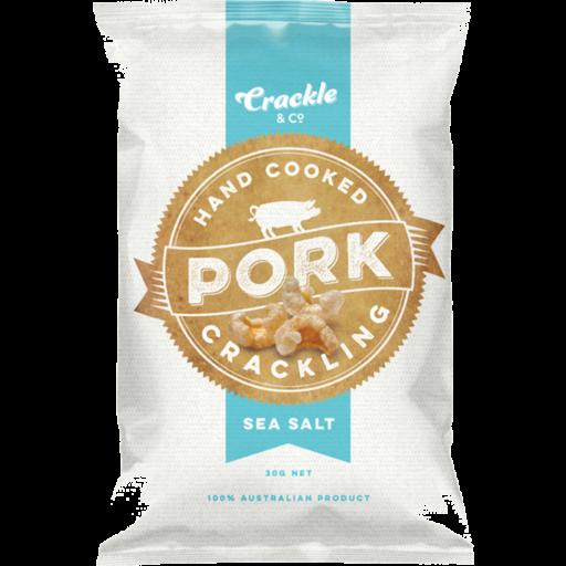 Crackle Co Pork Crackling Sea Salt