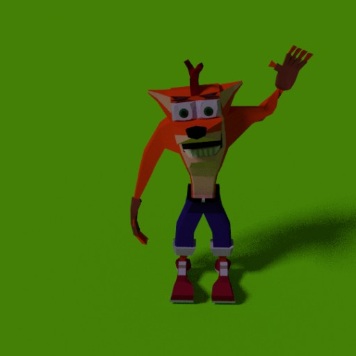 Crash Bandicoot Polygonal Game Character Low Poly! Blend Swap