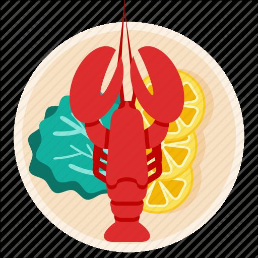 Crawfish, Dish, Food, Lobster, Restaurant, Seafood Icon