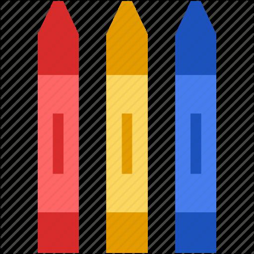 Crayon, Education, Flat, Pen, Pencil, School, Write Icon