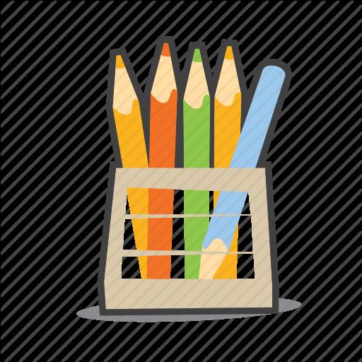 Crayons, Design, Pencil Icon