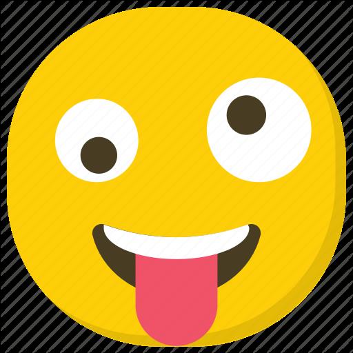 Crazy Smiley, Emoticon, Naughty Emoji, Smiley, Tongue Out Icon