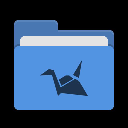 Folder Blue Copy Cloud Icon Papirus Places Iconset Papirus