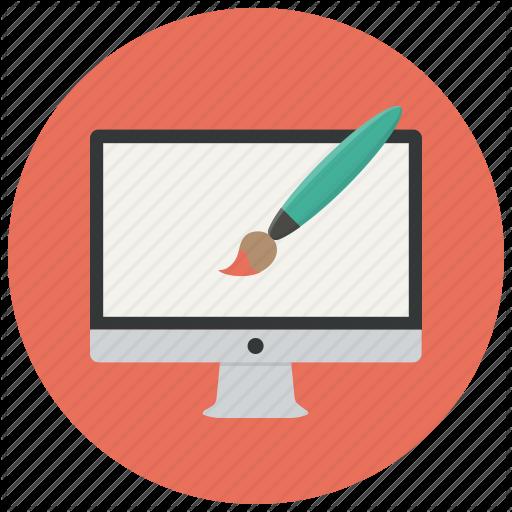 Computer, Design, Monitor, Designer, Creative, Graphic, Paint Icon