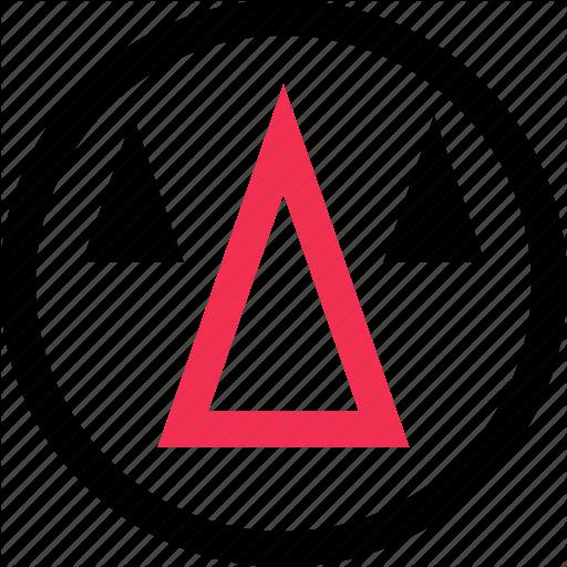 Abstract, Arrow, Cones, Creative, Design, Up Icon Icon Bold
