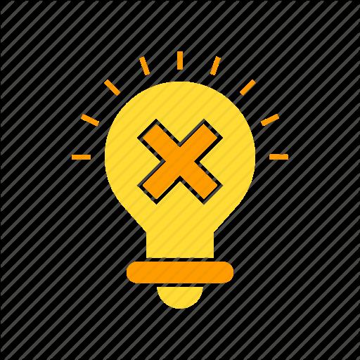 Bad Idea, Bulb, Creative Icon