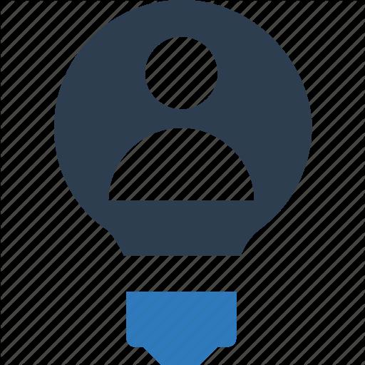 Brilliant Idea, Bulb, Creative Icon