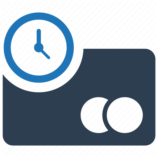 Banking, Credit Card, Payment, Processing Time Icon