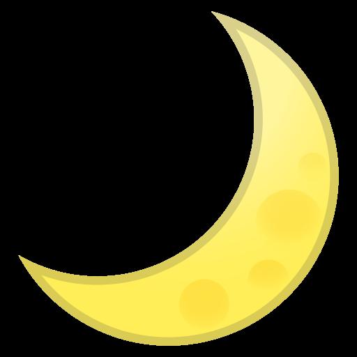 Crescent Moon Icon Noto Emoji Travel Places Iconset Google