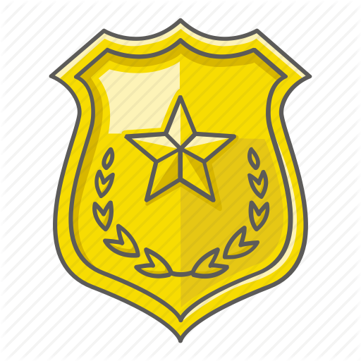 Crest, Enforcement, Law, Police, Shield, Star Icon
