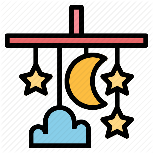 Baby, Crib, Mobile, Toy Icon