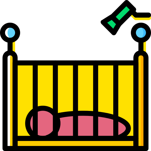 Crib Kid And Baby Png Icon