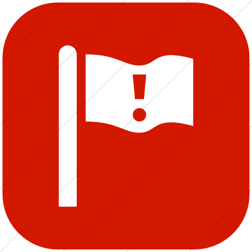 Flat Rounded Square White On Red Iconathon Critical