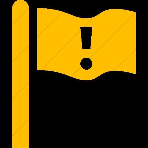 Simple Yellow Iconathon Critical Facility Icon
