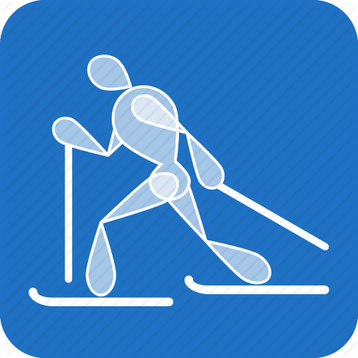 Cross Country, Olympics, Ski, Skiing, Sports, Winter Icon