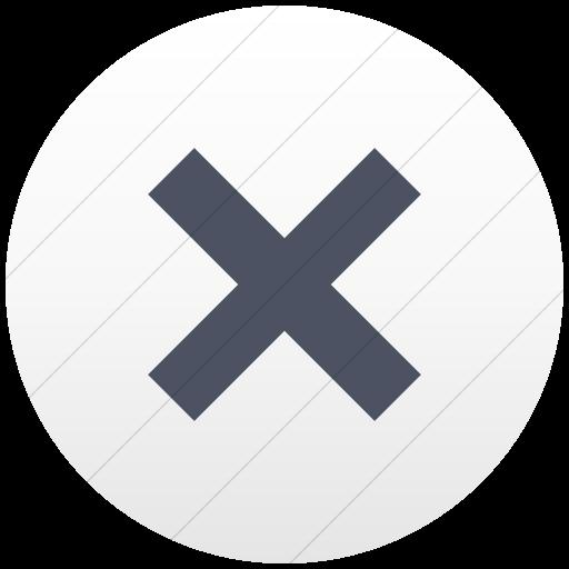 Flat Circle Blue Gray On White Gradient Raphael Cross Icon