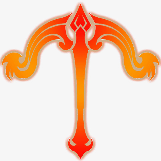 Bow And Arrow Icon Renderings, Bow Clipart, Orange, Archery Png