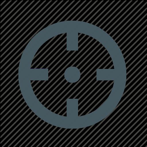 Aim, Crosshair, Gizmo, Interface, Simple, Target, Web Icon