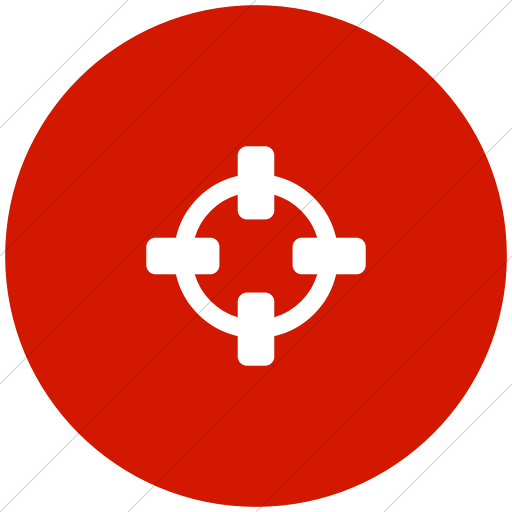Flat Circle White On Red Bootstrap Font Awesome
