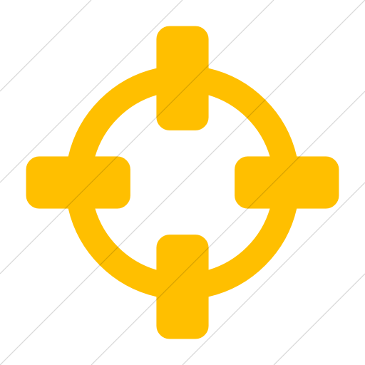 Simple Yellow Bootstrap Font Awesome Crosshairs Icon