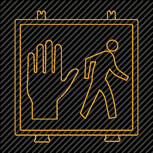 Crosswalk, Don't Walk, Pedestrian, Signal, Walk Icon