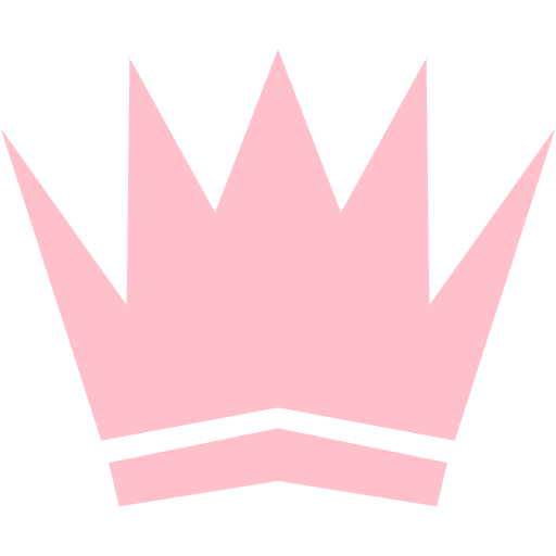 Pink Crown Icon