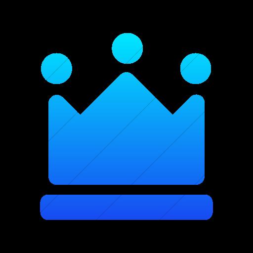 Simple Ios Blue Gradient Foundation Crown Icon