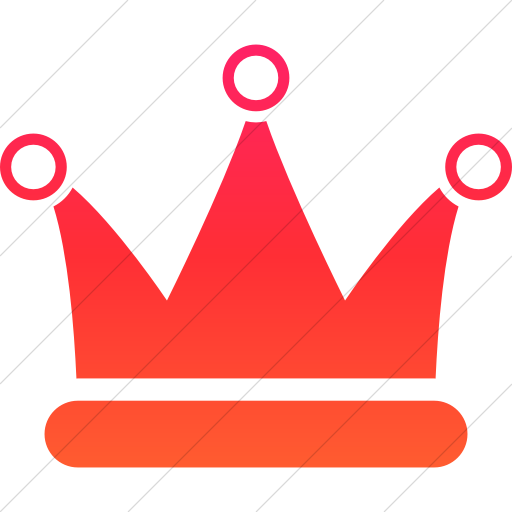 Simple Ios Orange Gradient Raphael Crown Icon