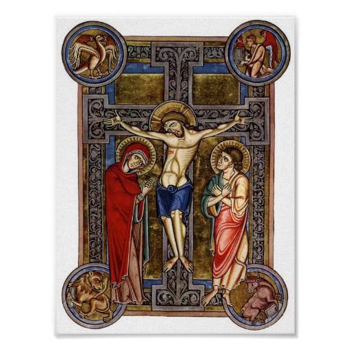 Crucifixion Weingarten Missal Century Poster