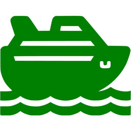 Green Cruise Ship Icon