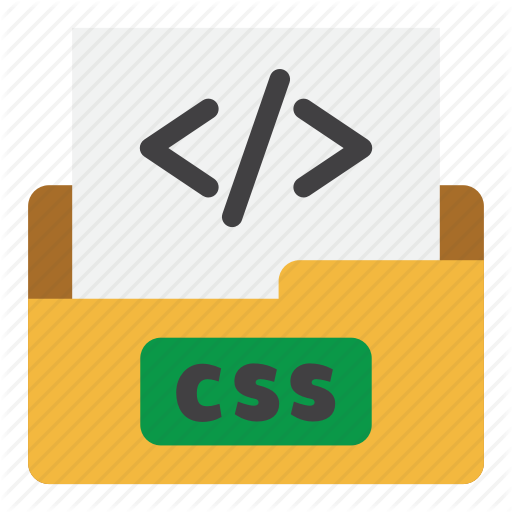Coding File, Css, Extension, Type, Flat Color, Format