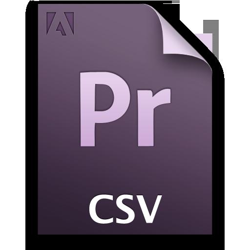 Adobe Premiere Pro Csv Icon