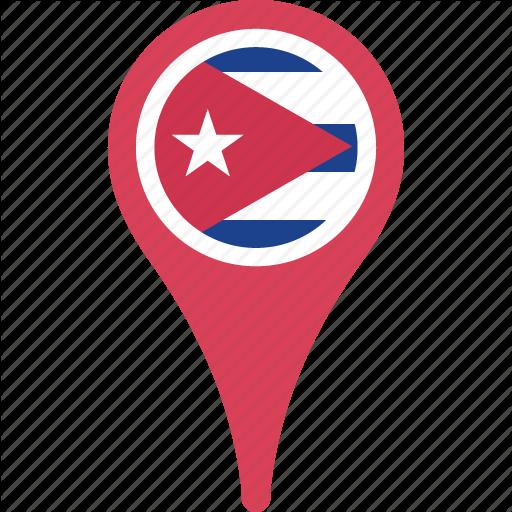 Circle, Country, Cuba, Flag, Map, Pn