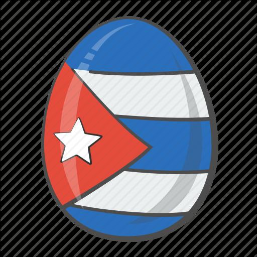 Circle, Cuba, Egg, Flag Icon