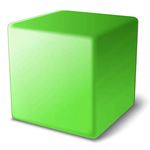 Iconexperience V Collection Cube Green Icon