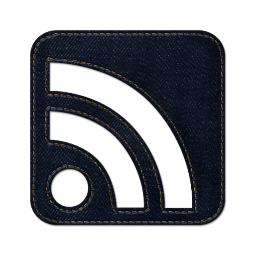 Rss Cube Icon Blue Jeans Social Media Iconset