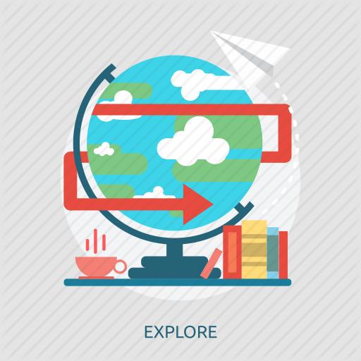Book, Coffee, Earth, Explore, Globe, Paper, World Icon