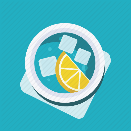 Drink, Glass, Ice Cube, Lemonade, Soda, Soft Drink, Water Icon