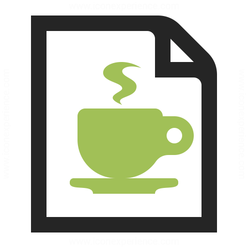 Document Cup Icon Iconexperience