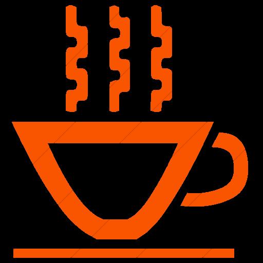 Simple Orange Classica Hot Tea Cup Icon